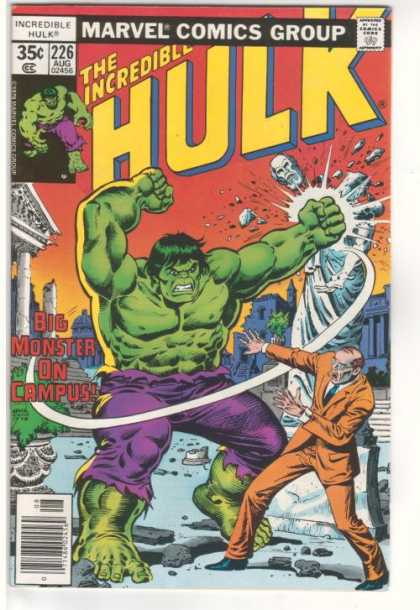 Hulk 226 - Smash - Campus - Angry - Green Man - Pick On Someone Your Own Size - Ernie Chan