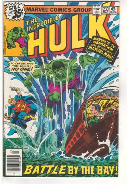 Hulk 233 - Water - Sub-marine - Torn Pants - Flying - Running