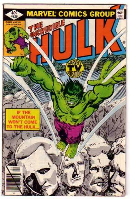 Hulk 239 - Mt Rushmore - Rushmore - Marvel Comics Group - Marvels Tv Sensation - If The Mountain Wont Come