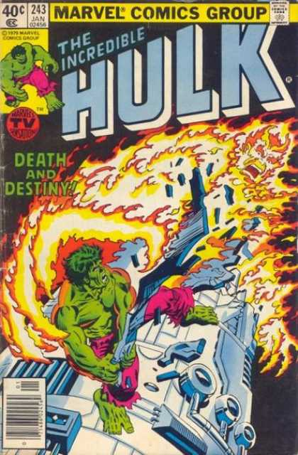 Hulk 243 - Death In Green - Fire In The Sky - Ship Of Death - Last Heros Fight - Where Im I