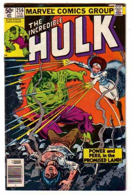 Hulk 256 - Marvel Comics Group - Approved By The Comics Code - The Incredible - Power And Peril In The Promised Land - Man - John Romita