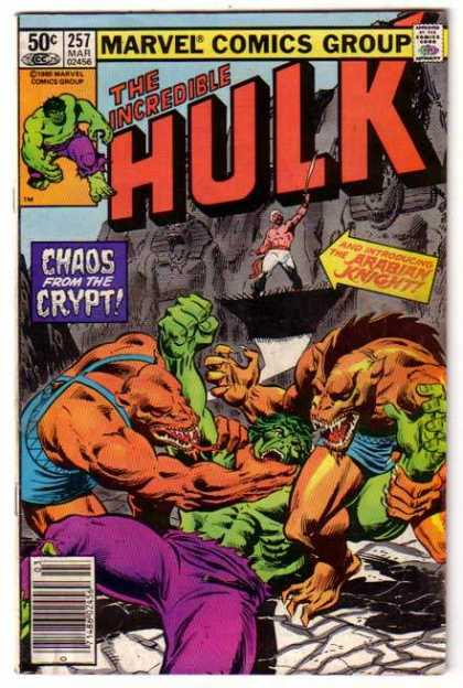 Hulk 257 - Chaos From The Crypt - Arabian Knight - Fantastical Monsters - Wrestling With The Hulk - Green Is Good - Tony DeZuniga