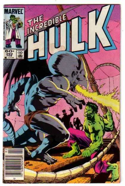 Hulk 292 - Marvel - The Incredible - One Magic Man - Fire - Boat - Kevin Nowlan