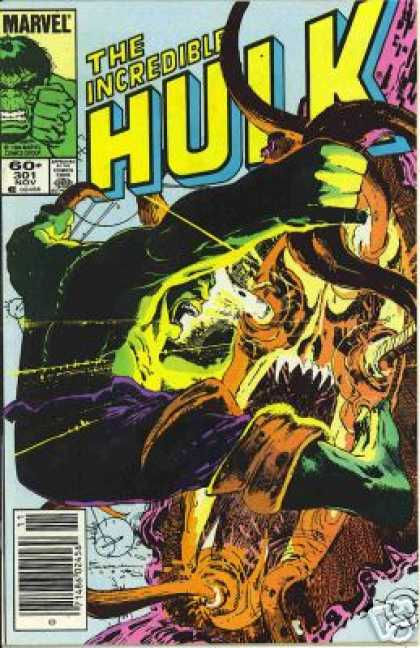 Hulk 301 - Marvel - The Incredible - November - Strength - Tongue - Bill Sienkiewicz