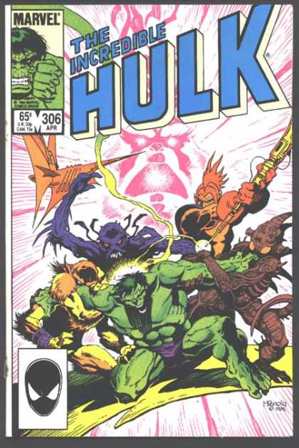 Hulk 306 - Black Mask - Green - Alien - Attack - Lightning - Mike Mignola