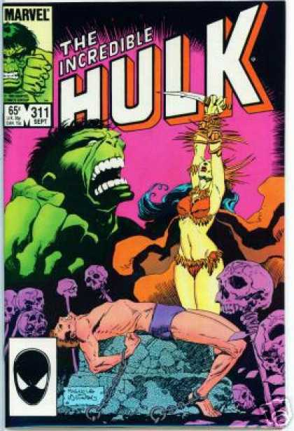 Hulk 311 - Sacrifice - Man - Knife - Bikini - Bones - Al Williamson, Mike Mignola