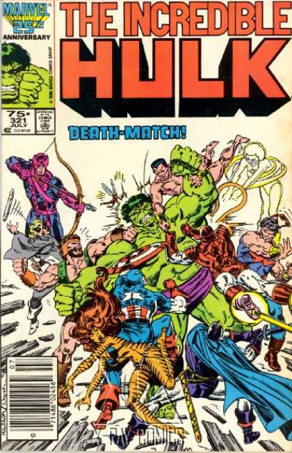 Hulk 321 - The Incredible - Marvel - Approved By The Comics Code - Death-match - Captain America - Bob Wiacek
