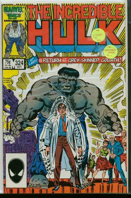 Hulk 324 - Incredible Hulk - Return Of Grey-skinned Goliath - Marvel 25th Anniversary - 75 Cents - 324
