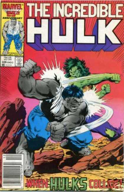 Hulk 326 - Punch - Rock - Grey Hulk - Strenghth - Beat - Bob McLeod