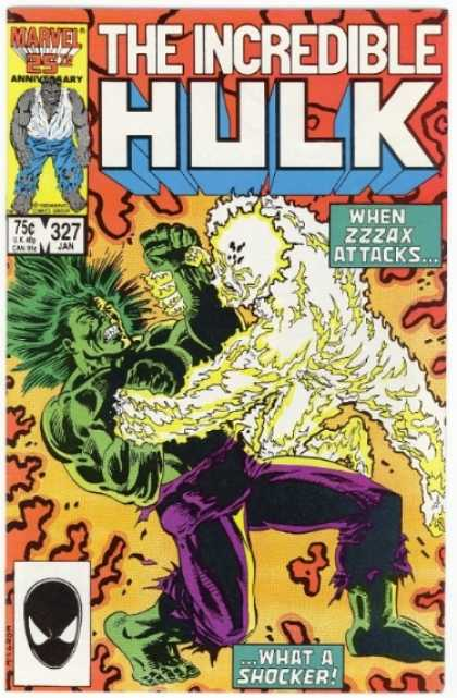 Hulk 327 - Zzzax - What A Shocker - Purple Pants - Black Mask - White And Yellow Monster
