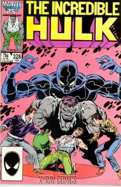 Hulk 328 - Rick Jones - X-ray - Ripped Clothing - Black Villain In The Background - Purple Frills Jacket