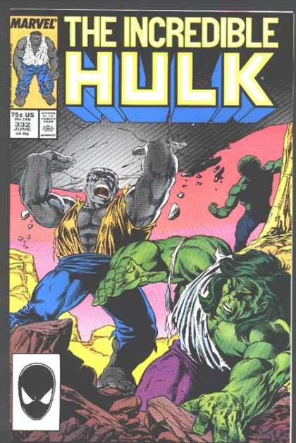 Hulk 332 - Incredible - Marvel - Strenght - Fight - Gray Hulk