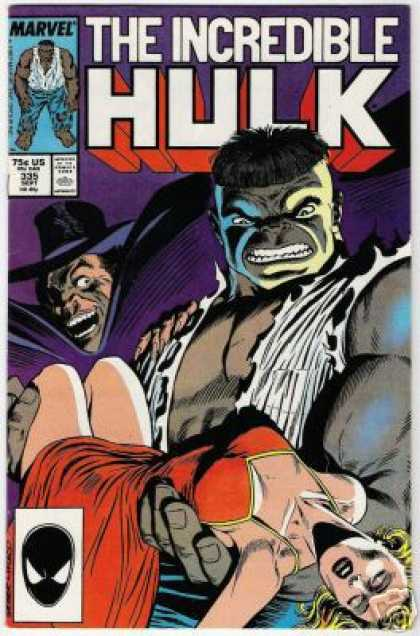 Hulk 335 - The Incredible - Red Dress - Bruce Banner - Passed Out Girl - Man In Hat