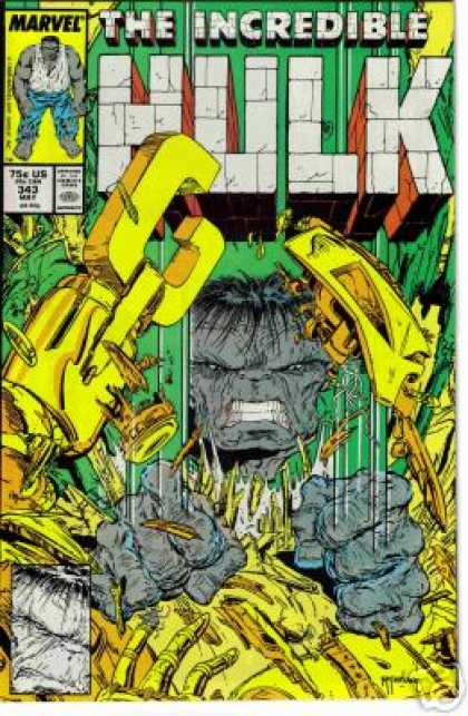Hulk 343 - Incredible - Marvel - Robot - Mutant - Comics Code - Todd McFarlane