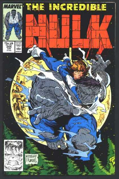 Hulk 344 - Moon - Full Moon - Tree Top - Flying - Torn Clothes - Bob Wiacek, Todd McFarlane