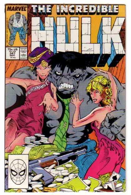 Hulk 347 - Tie - Girls - Pile Of Money - Cards - Gun - Jeff Purves