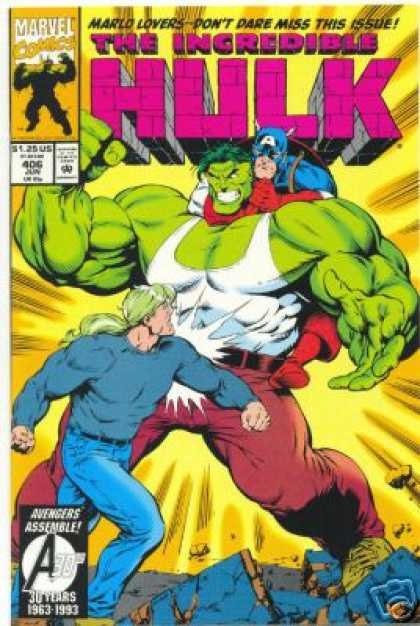 Hulk 406 - Captain America - Marlo - Punch - Issue - Marvel - Gary Frank