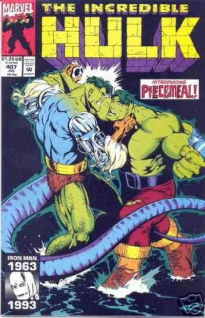 Hulk 407 - Introducing Piecemeal - Marvel Comics - The Death Of Iron Man - Supervillan - Superstrong Man With A Tail - Gary Frank