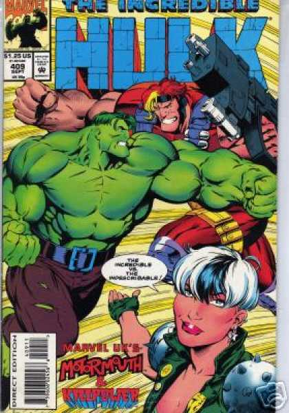 Hulk 409 - Hulk - Mean Green Machin - Marvel - Massacre Cable - Moromouth - Gary Frank