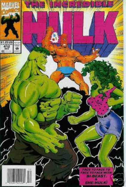 Hulk 412 - She-hulk - Green Man - Bi-beast - Shorts - Rays Of Light