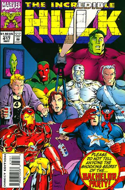 Hulk 417 - Vision - Quicksilver - Impossible Man - Johnny Storm - Alien Picture - Gary Frank