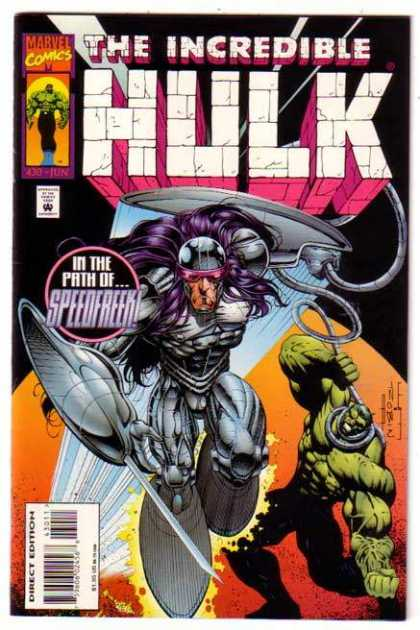 Hulk 430 - Marvel - The Incredible - In The Path Ofspeedfreek - Direct Edition - Costume