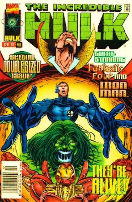 Hulk 450 - Fantastic Four - Iron Man - Green Creature - Double Sized - High Collar - Deodato Fiho