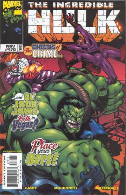 Hulk 470 - Marvel Comics - The Circus Of Crime - Ol Jade Jaws - Strength - Fighting Bad Guys - Ed McGuinness