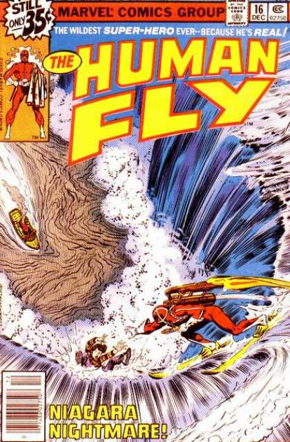Human Fly 16 - Marvel Comics Group - The Human Fly - Niagara Nightmare - Super-hero - 35c - Bob McLeod