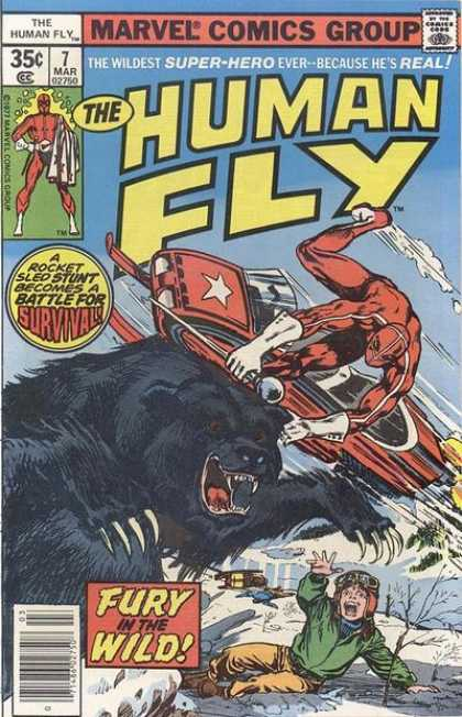 Human Fly 7 - Marvel Comics - Wildest Super Hero - Fury In The Wild - Survival - Fight