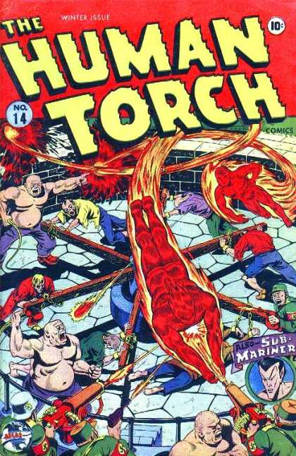 Human Torch 14 - Fire - Nazi - Slaves - Guns - Sub-mariner - Alex Schomburg