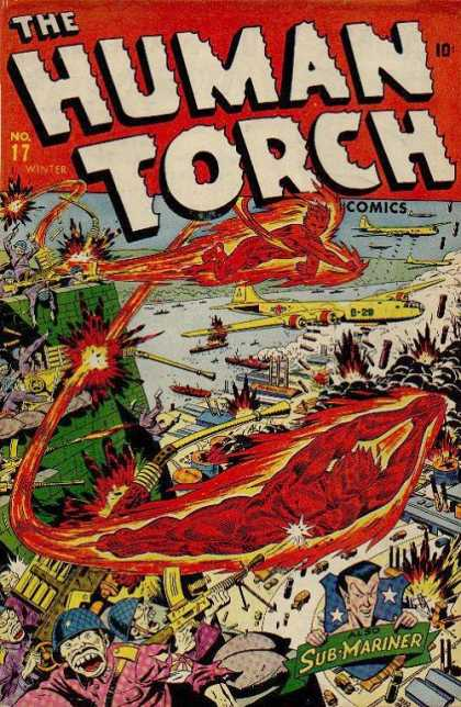 Human Torch 17 - Golden Age - Torch - Superhero - Wwii - Sub-mariner
