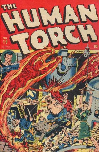Human Torch 19 - Marvel - Marvel Comics - Fantastic Four - The Torch - Sub Mariner