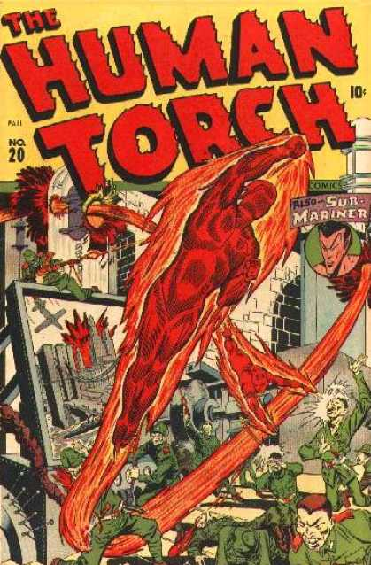 Human Torch 20 - No20 - Sub Mariner - Comic - Fire - Superman