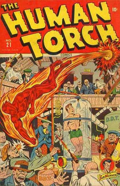 Human Torch 21 - Comics - Submariner - Gun - Pipes - Humans
