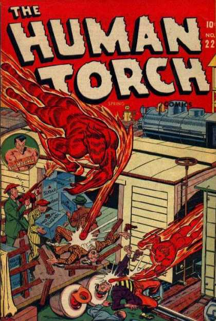 Human Torch 22 - Mutant - Train - Aquaman - Sugar - Box