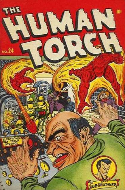 Human Torch 24 - Torch - Fantastic Four - Fliing Man - Thief - Battle