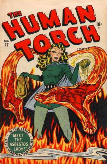 Human Torch 27 - Woman - Flame - Costume - Superhero - Mutant