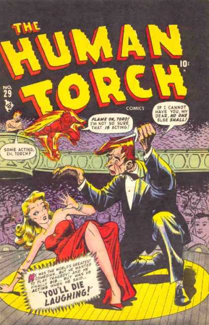 Human Torch 29 - Knife - Audience - Devil - Women - Yellow Hair