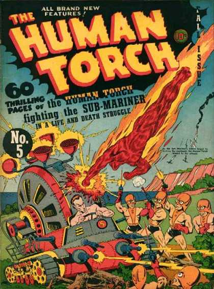 Human Torch 5 - All Brand New Features - Superhero - Machine - Sea - Aliens - Skottie Young