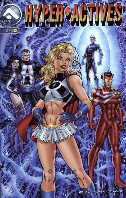 Hyper-Actives 2 - Blonde Hair - Short White Skirt - 2 Females - 3 Guys - Shield