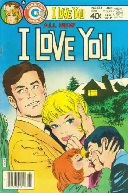 I Love You 123 - Kiss - House - Blond Woman - Tree - Sky