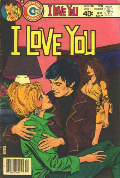 I Love You 128 - Plunging Neckline - Flowers - Lamp - Blonde - Bruntette
