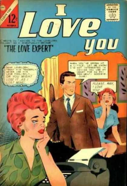 I Love You 53 - Type Writer - One Lady Is Listening And Crying - One Lady Is Crying - One Young Men - Coat