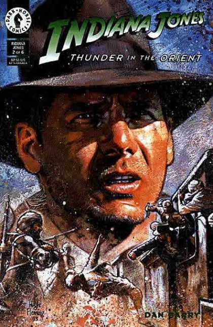 Indiana Jones: Thunder in the Orient 2 - Man In Hat - Mans Face - Soldiers - Blue Sky - Brown Hat