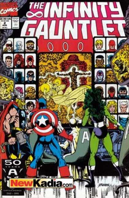 Infinity Gauntlet 2 - Marvel Comics - Comics Code Authority - Captain America - Thor - Superheros - George Perez