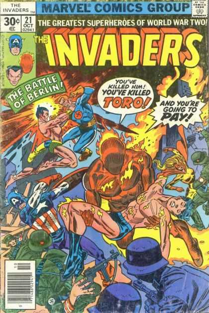 Invaders 21 - Marvel Comics Group - 21 Oct 02941 - 30c - A - The Battle Of Barlin