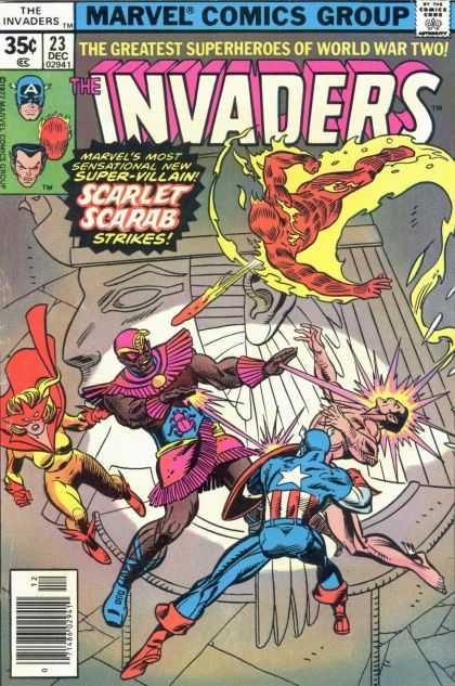 Invaders 23 - Scarlet Scarab - Captain America - Prince Namor - Human Torch - Sensational