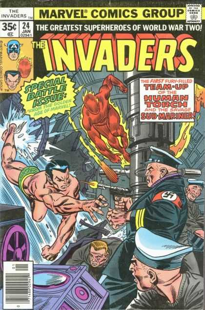 Invaders 24 - Human Torch - Sub-mariner - World War Two - The Golden Age - Nazi
