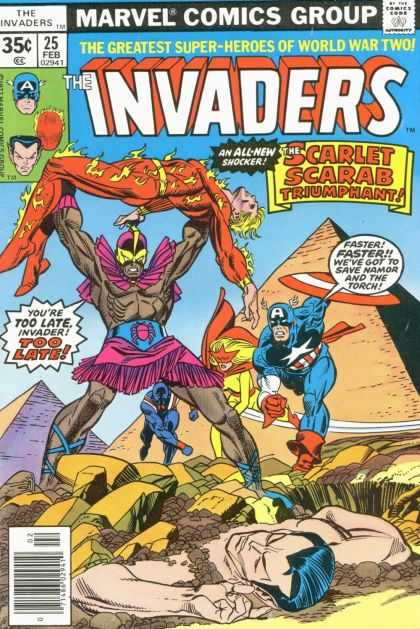 Invaders 25 - World War Two - 25 - Scarlet Scarab Thriumphant - Captain America - Marvel